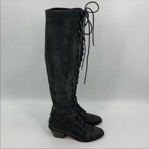 Jeffery Campbell leather Joe Boots